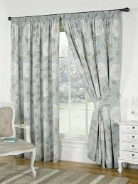 Lined Bedroom Curtains Poppy Ready Made Lined Curtains Duckegg Blue Pencil Pleat
