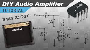 make a great sounding lm386 audio amplifier with bass boost circuit basics