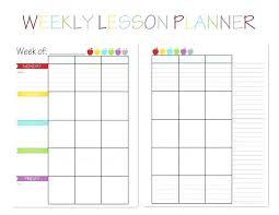 Teacher Binder Templates Weekly Lesson Plan Template 9 Free Word Documents Download Preschool