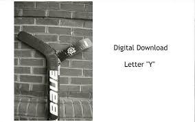 Y Alphabet Photography Y Digital Photo Alphabet Photos Sports Alphabet Print Photo Letter Name Photographs Hockey Photo