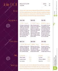 simplistic curriculum vitae resume template purple stripe simplistic curriculum vitae resume template purple stripe