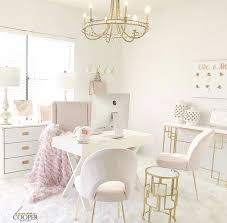 White airy home office Bedroom Light And Airy Home Office Space blush white homeoffice California Closets Light And Airy Home Office Space blush white homeoffice Home
