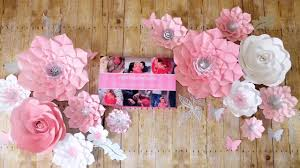 Hanging Paper Flower Backdrop How To Hang Paper Flowers How To Attach Wire To A Back Of Paper
