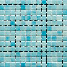 glass mosaic pool tile features