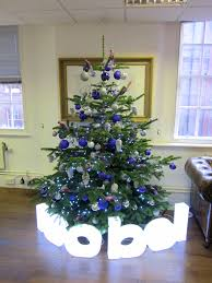 Corporate Christmas Tree - Blue and Silver