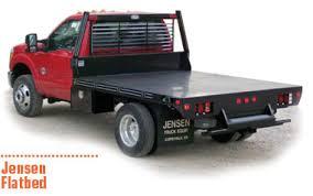 Jensen Flatbed rugged 10 gauge steel flat pickup bed