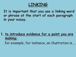 before we begin critical essay basic marking guidelines ppt  linking it is important that you use a linking word or phrase at the start of