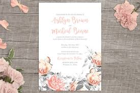 Free Printable Wedding Invitations Templates Rosa Romance Free Floral Wedding Invitation Printable From