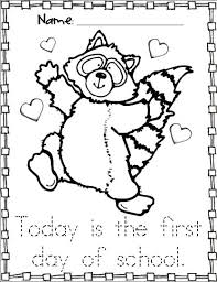 a4677b3fdad341e29e321e023a0456b0 kissing hand activities free chester the raccoon coloring page on first day of kindergarten worksheets
