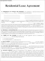 Residential Lease Agreement Template Printable Sample Rental ...