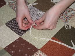 FloralShowers | Tutorial: How to Tie a Quilt | & How to Tie a Quilt Step 2 Adamdwight.com