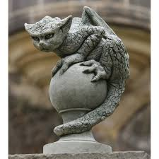 campania international oscar the gargoyle cast stone garden statue hayneedle