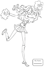 Cheerleader Coloring Sheet Printable Coloring Pages Ideas Pro