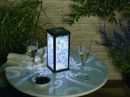 solar patio table lights designs