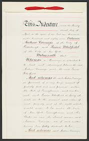 andrew s story in this 1887 prenuptial agreement between andrew and louise whitfield whitfield gave up her rights to her husband s estate in return for an annual