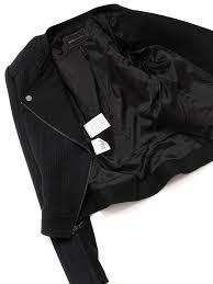 jaison black knit biker jacket retail 380 size 34