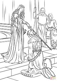 Small Picture Medieval Princess coloring page Free Printable Coloring Pages