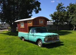 Tiny Trucks 1966 Ford F100 Gypsy Camper House Truck