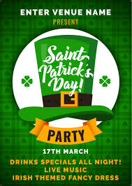 Green Party Flyer St Patricks Day Party Flyer Promote Your Pub