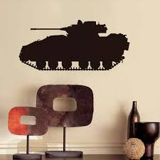 Army Tank Vinyl Wall Stickers For Kids Rooms Bedroom Decals Vinyl Self  Adhesive Wallpaper Home Decor