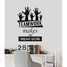 cool wall stickers home office wall. Office Inspirational Words Wall Decal Teamwork Makes The Dream Work Motivational Quotes Home Or Decor Cool Stickers T