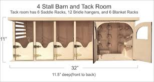 4 stall barn and tack room
