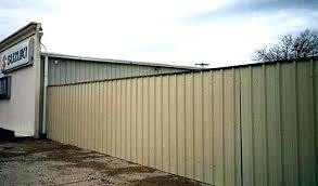 steel fence panels decor metal with panel cap corrugated canada pan corrugated steel