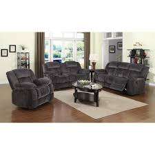 soft velvet fabric brown 3 piece living room set cushion sofa with recline oval see