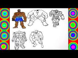 Hulk vs hulkbuster epic battle. Superheroes Hulk Thanos Hulkbuster Fantastic 4 Venom Coloring Pages For Kids Youtube