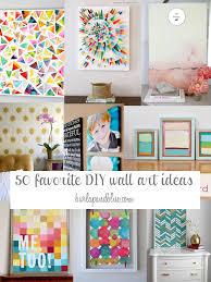 50 DIY wall art tutorials (burlap and blue)