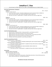 How To Write A Chronological Resume With Sample Good St Peppapp