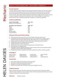 Mechanic Resume Examples Interesting Resume Examples Mechanic Pinterest Resume Examples And Sample Resume