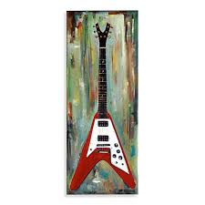 guitar canvas wall art red and black electric guitar on guitar canvas wall art red with guitar canvas wall art red and black electric guitar bed bath