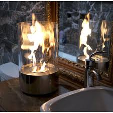 nu flame accenda 19 in tabletop decorative bio ethanol fireplace in stainless steel