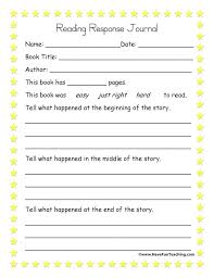Story Template Beginning Middle End Middle School Reading Activities Printable Template For