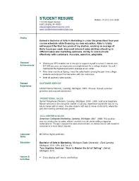 Best Resume For College Student How To Write A Resume For A College