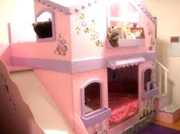 bunk bed with slide and tent. Princess Bunk Bed With Slide Tent For Loft Twin Size . And