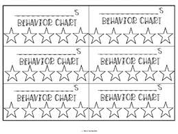 Behavior Management Charts For Individual Students