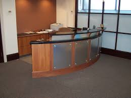 custom office desk designs. Cool Desk Designs For Workspace: Metal Modern Reception Design Ideas On Custom Made Office A