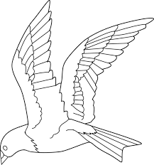 Small Picture Flying Bird Coloring Page Free Clip Art