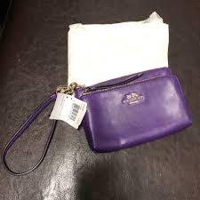 Purple Coach Wristlet NWT!! Original Wrapping!!!