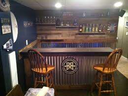 Corrugated Metal Interior Design Diy Wooden Pallet Bar Steel Bar Pallet Wood And Pallets