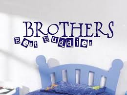 brothers best buddies wall art sticker quote childrens room boys bedroom 118 on wall art for toddlers room with brothers best buddies wall art sticker quote childrens room boys