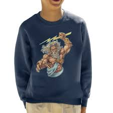 details about zeus lightning bolts kid s sweatshirt