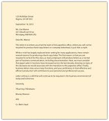 Letters With Letterhead Formal Letter Writing Format Example New For Business Letter