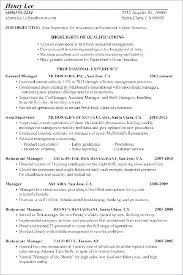 Fast Food Resume Examples Fast Food Manager Resume Sample Fast Food