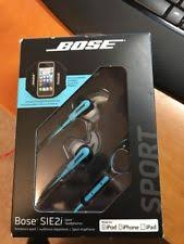 bose headphones sport box. bose sie2i sport headphones new in box - blue