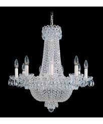 schonbek renaissance rock crystal 27 inch wide 8 light chandelier chandelier schonbek chandeliers