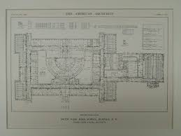 school floor. Ground Floor Plan, South Park High School, Buffalo, NY, 1914, Original School
