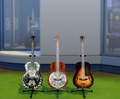 3 Classic Blues Guitars By Esmeralda - Sims 4 Miscellaneous
